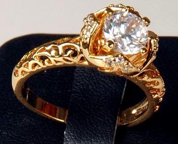 خريد انگشتر سلطنتی زنانه طرح نگين دار